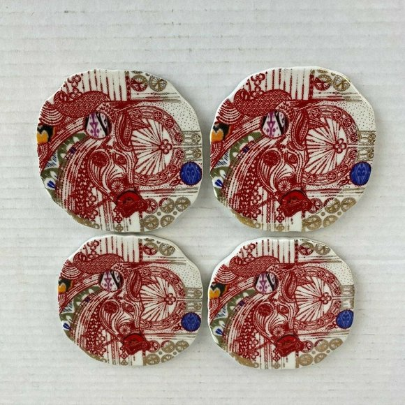 Anthropologie Set of 4 Horse Coasters Multicolor